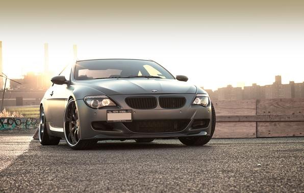 Picture black, BMW, BMW, Matt, Blik, 645i, 6 Series, E63