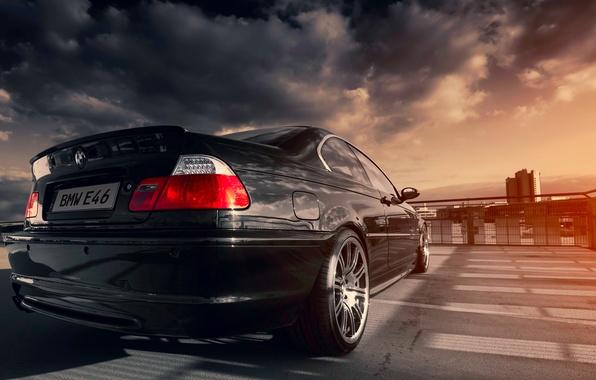 Picture BMW, black, sun, E46, 328ci