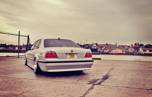 Picture tuning, bmw, BMW, classic, promenade, e38, stance, 750il