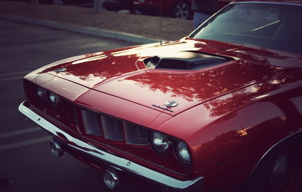 Picture vintage, muscle car, classic, plymouth, Hemi CUDA