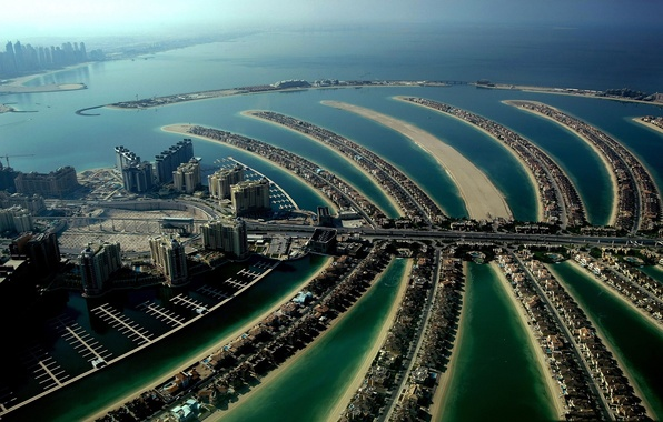 Picture Palma, island, home, Dubai, artificial, Jumeirah