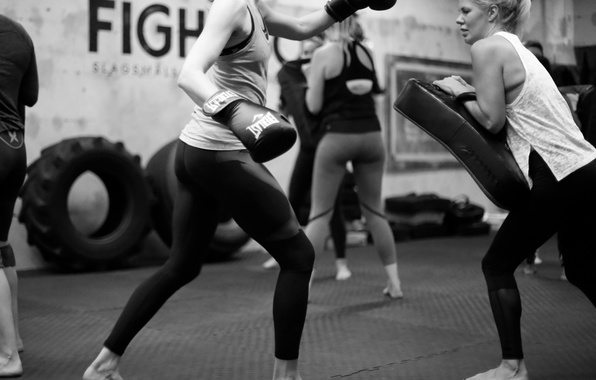 Photo Wallpaper Kickboxing White And Black Training
