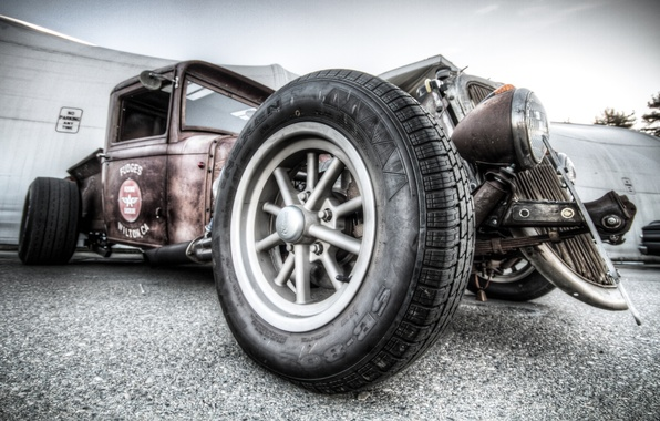 Picture car, machine, power, Hot, classic, Rod, old man