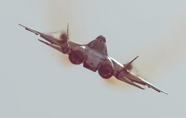Picture the sky, heat, nozzle, Dry, PAK-FA, T-50