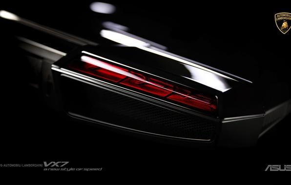 Picture Lamborghini, Laptop, Black, ASUS, Hi-Tech, VX 7, Noutbook
