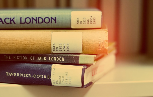 Picture books, stack, Jack London