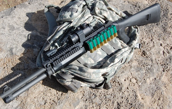 Picture Wallpaper, Cartridges, Weapons, Gun, Wallpapers, Benelli, Camouflage, Weapons, Optical sight, Super 90, Super 90, Atronach, …