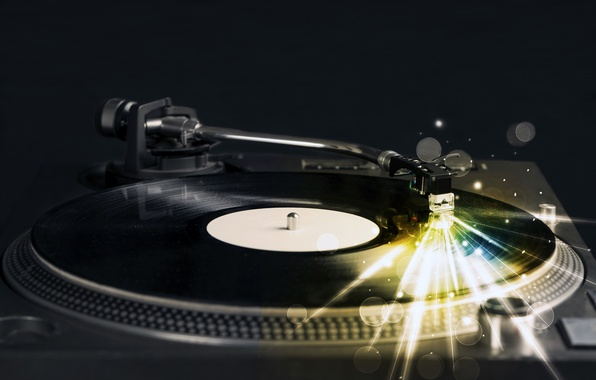 Picture light, line, retro, creative, glow, club, music, sound, player, vinyl, record, tool, party, night, record, ...