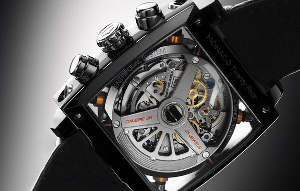 Picture watch, chronometer, Monaco Twenty Four, TAG Heuer