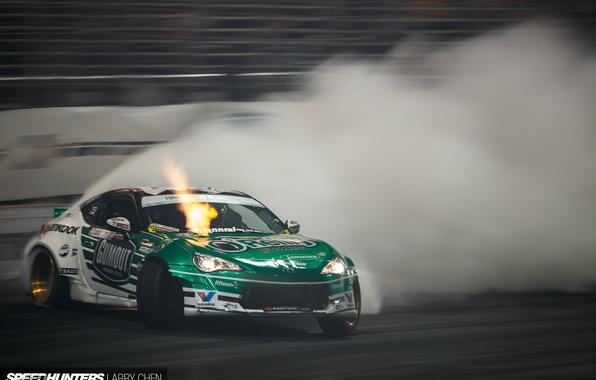 Picture smoke, speed, skid, track, Formula Drift