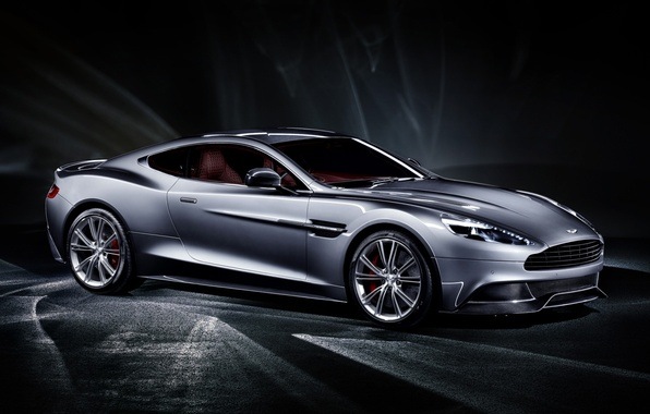 Picture grey, background, Aston Martin, supercar, twilight, the front, Aston Martin, Vanquish, Vanquish