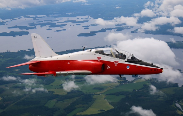 Picture flight, landscape, cabin, attack, the plane, jet, Hawk, training, easy, subsonic