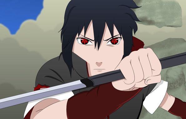 Picture sword, Sasuke, Naruto, war, anime, katana, boy, sharingan, ninja, asian, Akatsuki, Uchiha, manga, Uchiha Sasuke, …