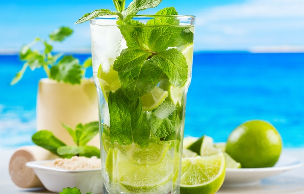 Picture ice, sea, beach, cocktail, sugar, lime, ice, beach, mint, sea, cocktail, lime, sugar, Mojito, mint, …