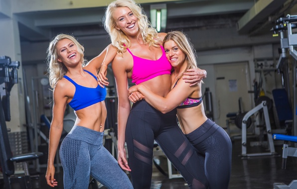 Picture hug, friends, fitness, gym, laughter