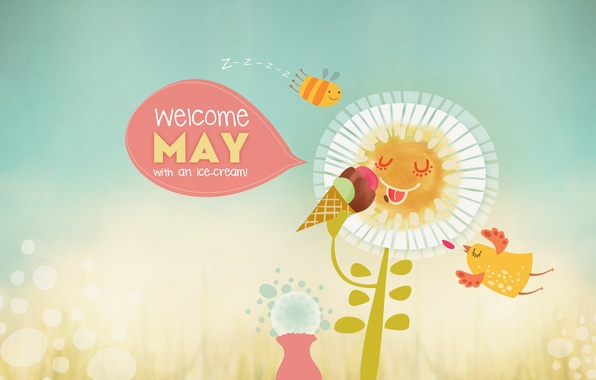Picture bee, Daisy, ice cream, may, may, Design, welcome, WebOlution