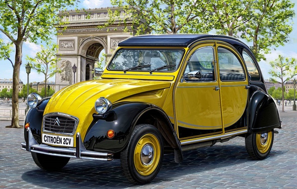 Picture one, two, speed, art, Citroen, Citroen, max, car, car, mechanical, France, model., horses, the, 1948., …