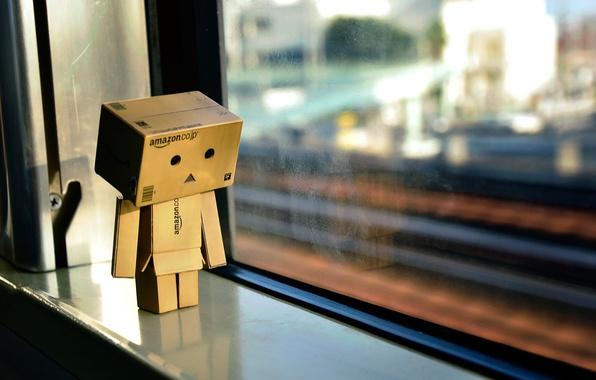 Picture light, reflection, box, toy, window, light, cardboard, danbo, box, toy, bokeh, bokeh, window, 2560x1600, reflection, …