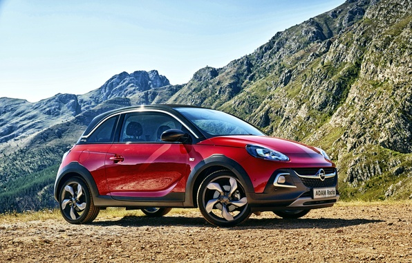Photo wallpaper the sky, mountains, Opel, Opel, Adam, Rocks, Adam
