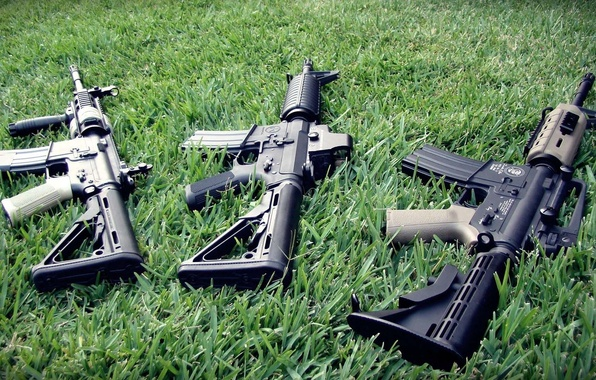 Picture weed, m4a1, ar-15, Machines, assault rifles