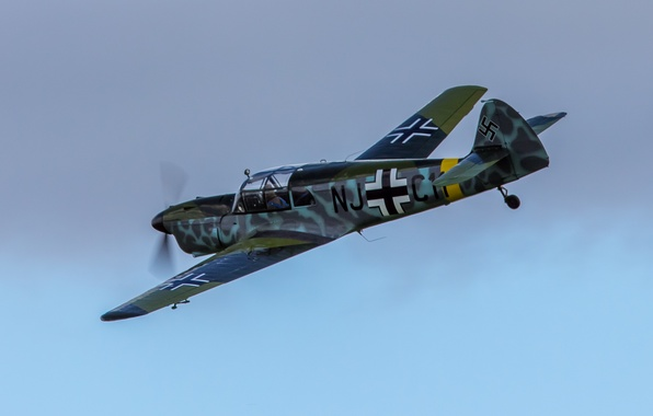 "Photo wallpaper Messerschmitt, single-engine, monoplane, ""Typhoon"", messenger, Bf.108"
