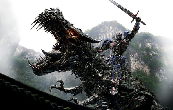 Picture Action, Robot, Warrior, Dinosaur, Optimus Prime, Michael Bay, Weapons, Autobots, Movie, Sword, Film, Adventure, Sci-Fi, …