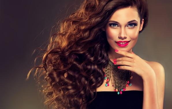 Picture sexy, model, brunette, elegant, makeup