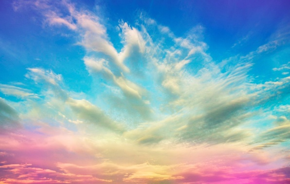 Picture the sky, clouds, color
