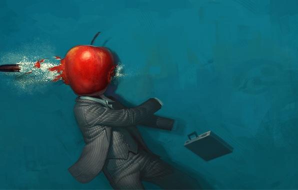 Picture Apple, Figure, bullet, strange