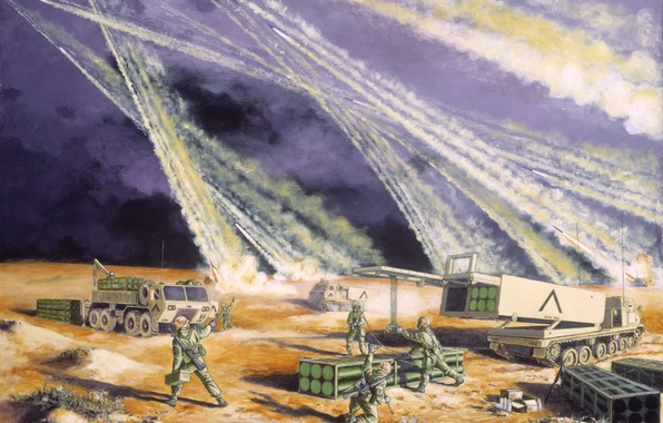 Picture war, missiles, Saudi Arabia, February 1991 -- On 2 August 1990, the forces of Iraq …