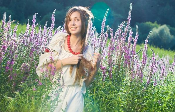 Picture look, girl, nature, smile, Ukrainian