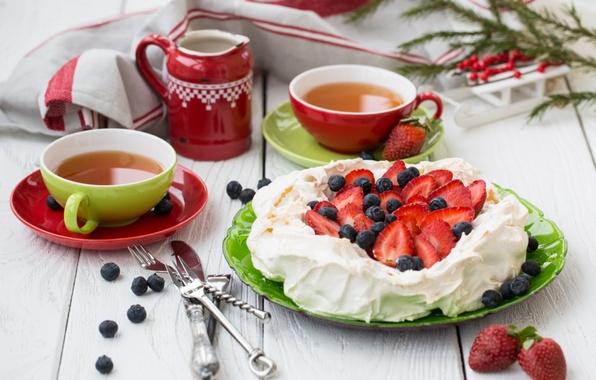 Picture tea, apples, food, blueberries, drinks, dessert, food, drink, cream, dessert, tea, apples, blueberries