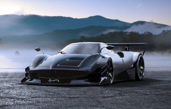 Picture Concept, Pagani, Black, Tuning, Future, by Khyzyl Saleem, To huayr