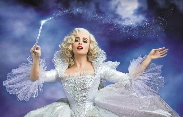 Picture magic, magic, tale, dress, fairy, fantasy, blonde, in white, Cinderella, magic wand, Helena Bonham Carter, …