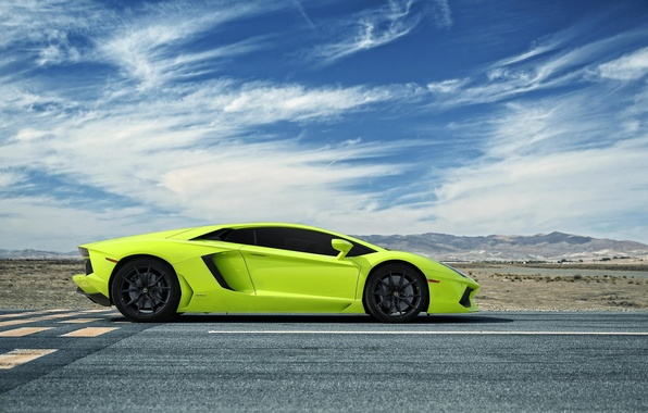 Picture road, Lamborghini, CA, Aventador, Adventdaor