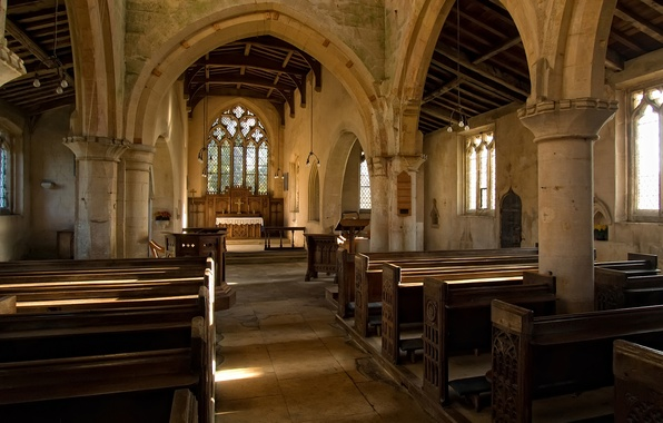 Picture design, style, interior, Cathedral, the Church, Catedral, St-Nicholas Walcot Lincolnshire church interior