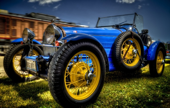 Picture retro, speed, Bugatti, race, sportcar, as, system, it, France, Grand Prix, was, modification, HDR., tormaza, …