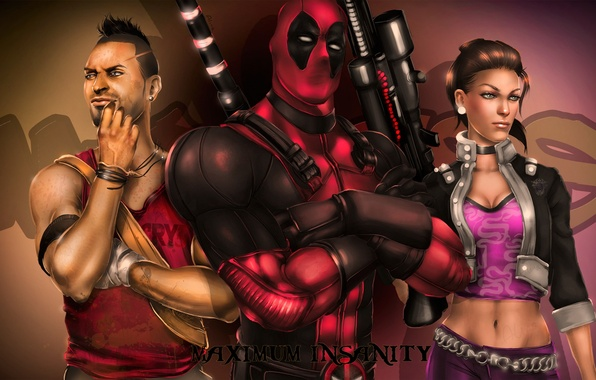 Picture THQ, Deadpool, fan art, Shaundi, Saints Row: The Third, Far Cry 3, Ubisoft Montreal, Wade …