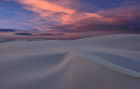 Picture sand, sunset, desert, dunes, USA, New Mexico