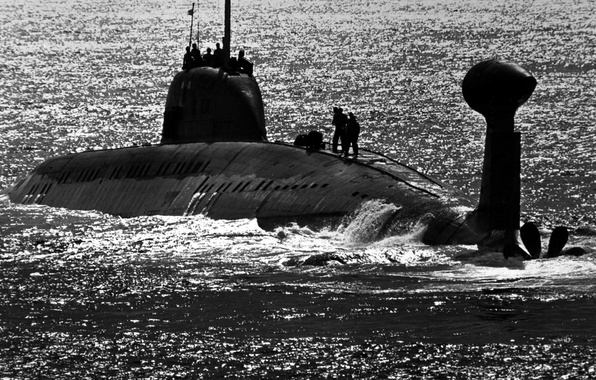 Picture sea, people, Submarine