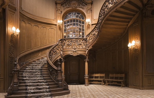 Picture design, wood, staircase, decoration