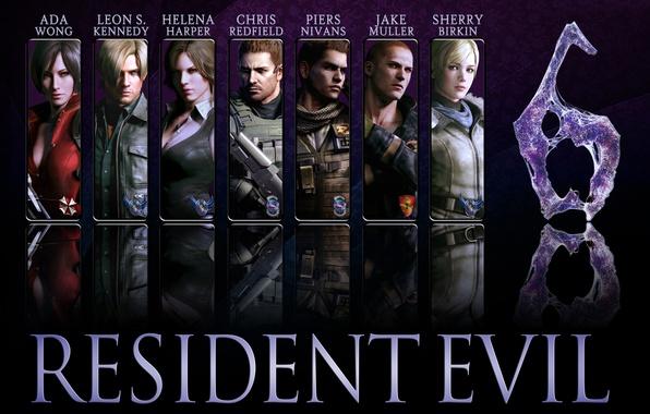 Picture game, Resident Evil, Resident Evil 6, Leon Scott Kennedy, Helena Harper, Chris Redfield, Jake, Sherry …