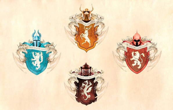 Picture background, Game Of Thrones, House Stark, House Baratheon, Game Of Thrones, House Targaryen
