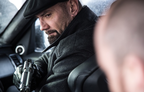 Photo wallpaper frame, 007: RANGE, SPECTRE, Mr. Hinx, Dave Batista, Dave Bautista, cap, gloves, gun