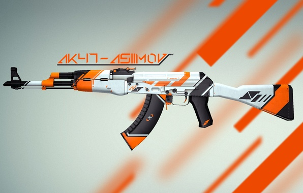 Picture Weapons, Gun, Valve, Counter Strike, Steam, Skin, Weapon, CS:GO, Global Offensive, Workshop, AK-47|Asiimov, Asiimov, Coridium