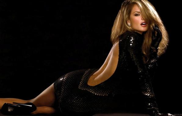 Picture black, dress, blonde, alessandra