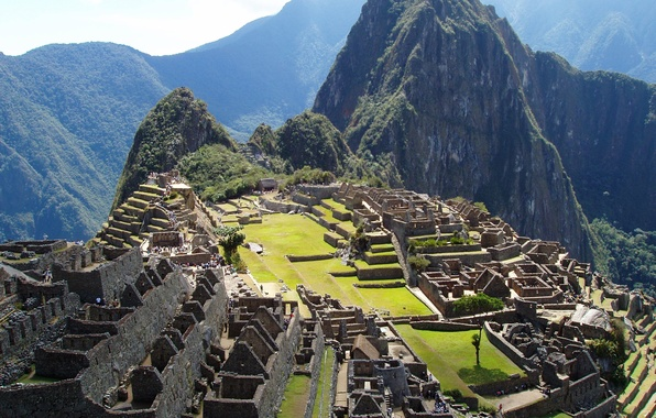 Picture the sky, mountains, the city, the ruins, ruins, Peru, Machu Picchu, peru, machu picchu, the …