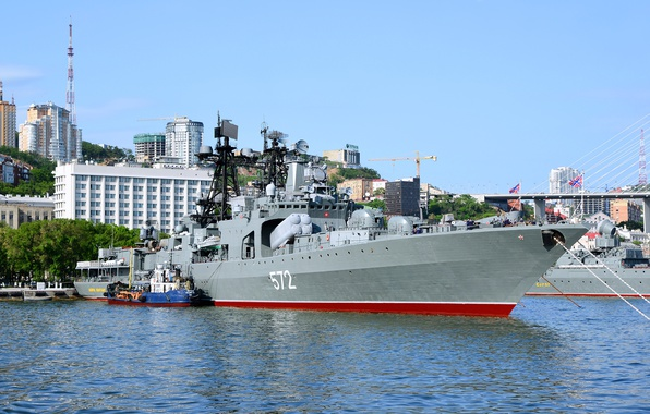 Picture ship, large, Navy, anti-submarine, Vladivostok, project 1155, Admiral Vinogradov