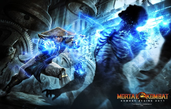 Picture fight, mortal kombat, raiden