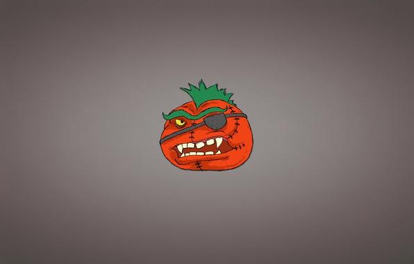 Picture minimalism, hairstyle, headband, tomato, tomato, vegetable, toothy, Mohawk, tomato
